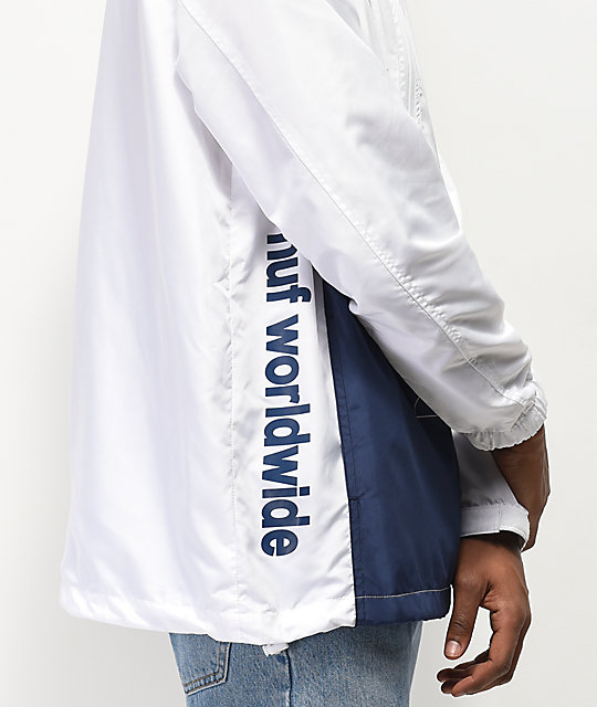 HUF Peak 3.0 White & Blue Anorak Jacket