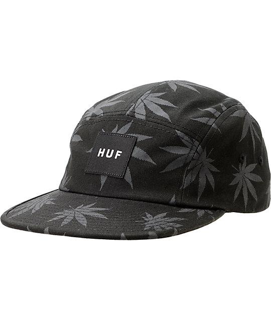 HUF Plantlife Black 5 Panel Hat  ac63f7474ef