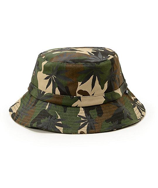 HUF Plantlife Camo Bucket Hat  e3bca2ffee3