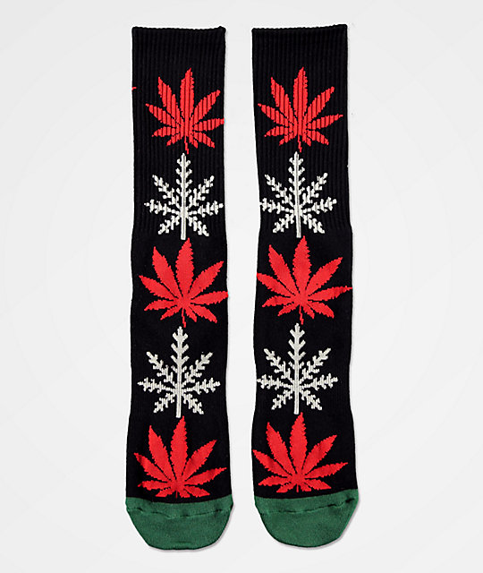 HUF Plantlife Glow-Flake calcetines negros