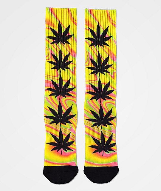 Pierwsze spojrzenie buty temperamentu innowacyjny design HUF Plantlife Good Trip Blazing Yellow Crew Socks