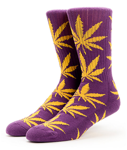 HUF Plantlife Purple & Gold Crew Socks