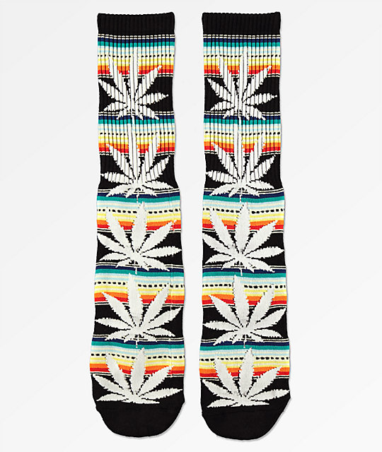 HUF Plantlife Serape calcetines negros