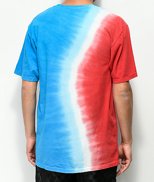 HUF Rocket Red, White & Blue Tie Dye T-Shirt