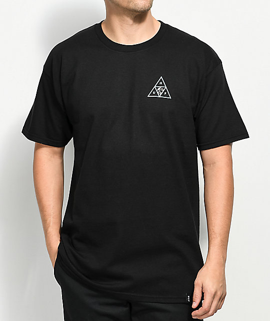HUF Rosa Calvaria Triple Triangle Black T-Shirt