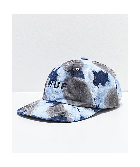 HUF Spot Dyed Blue Strapback Hat  9c7119f4c83