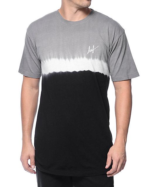 HUF Stripe Wash Black T-Shirt
