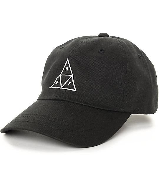 f1f0c01ea HUF Triangle Black Baseball Strapback Hat