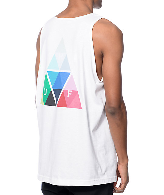 HUF Triangle Prism Tank - White