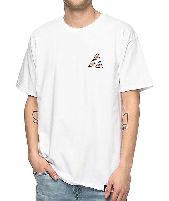 HUF Triple Triangle Floral White T-Shirt