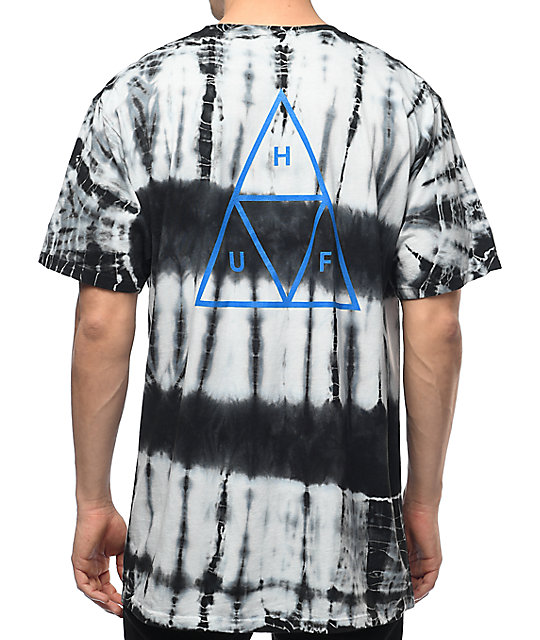 HUF Triple Triangle Lightning camiseta negra