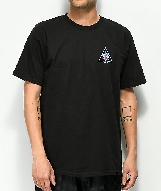 HUF Triple Triangle Shrooms Black T-Shirt