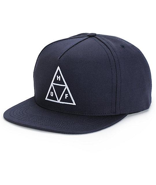 HUF Triple Triangle Snapback Hat  927712eb7c86