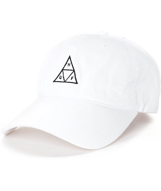 5efe30a560bb8 HUF Triple Triangle White Polo Strapback Hat