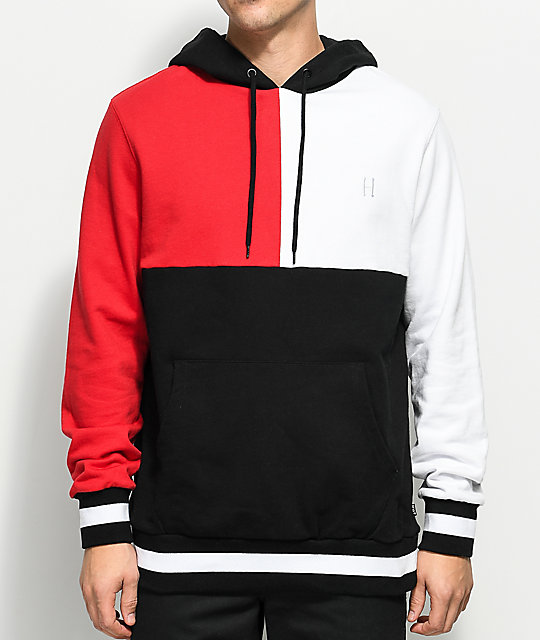 bright in luster most popular limited price HUF Velli Red, White & Black Hoodie