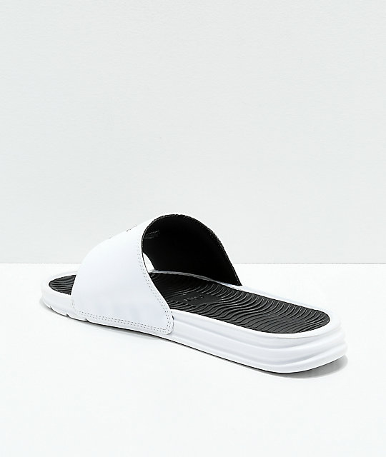 HUF WC Foul Play White & Black Slide Sandals
