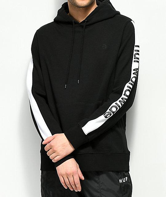 najlepsza moda butik wyprzedażowy najlepszy wybór HUF Worldwide Black & White Hoodie