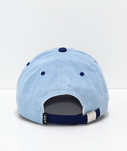 HUF Worldwide Blue Denim Strapback Hat