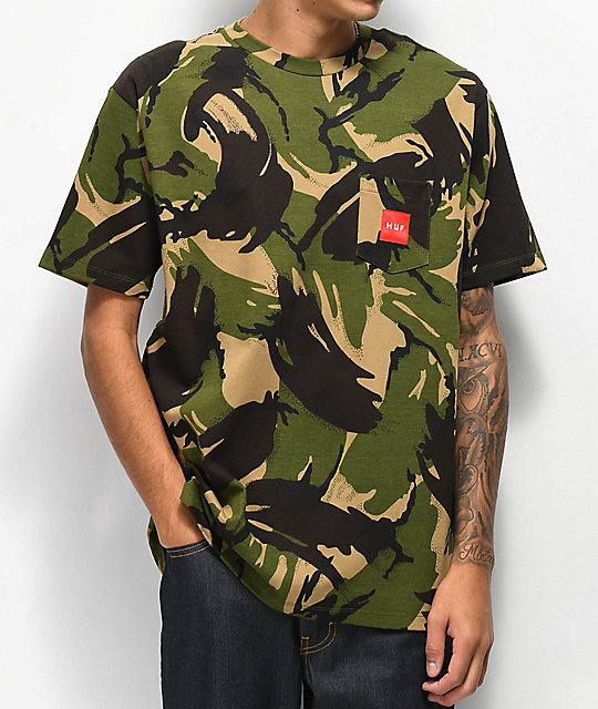 HUF Woven Label Pocket Camo T-Shirt