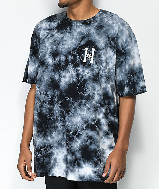 HUF X Felix the Cat Classic H Grey Tie Dye T-Shirt