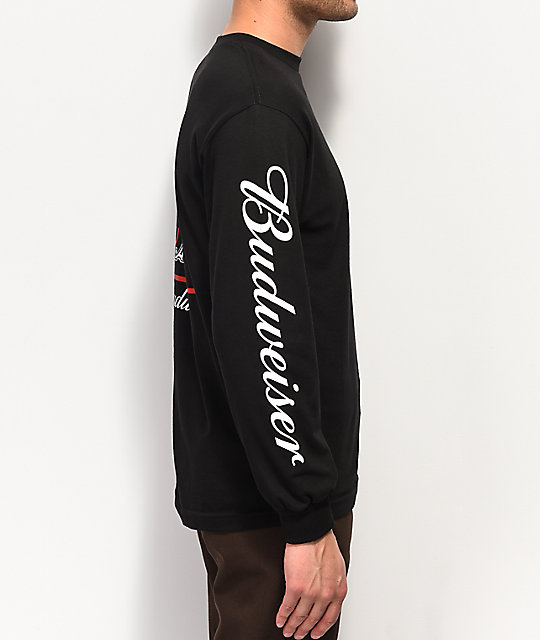 HUF x Budweiser Eagle Black Long Sleeve T-Shirt