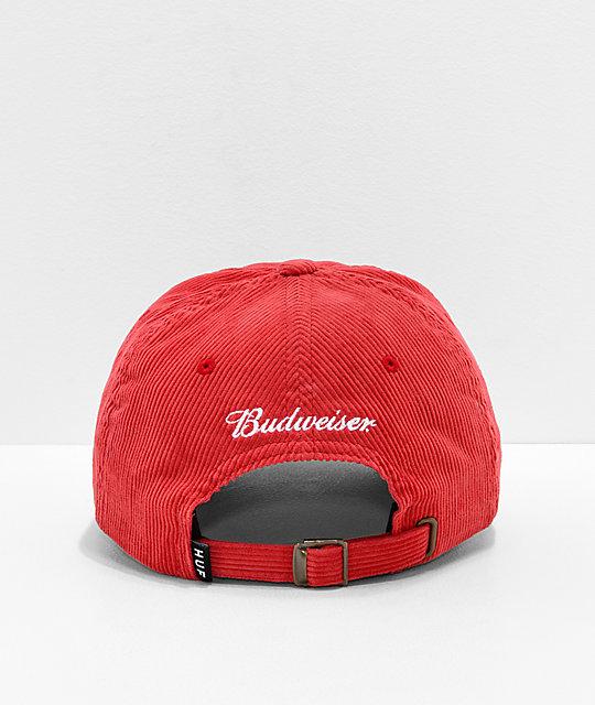 b1092e25d4702 ... HUF x Budweiser Red Strapback Hat
