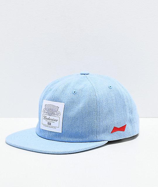b2ebc095e636d HUF x Budweiser gorra azul claro ...
