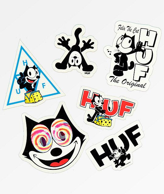 Huf X Felix The Cat Sticker Pack