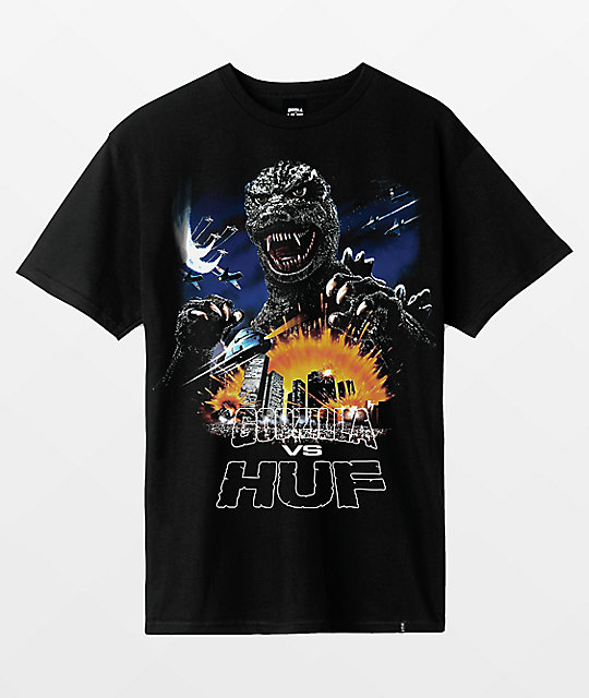 HUF x Godzilla Tour Black T-Shirt
