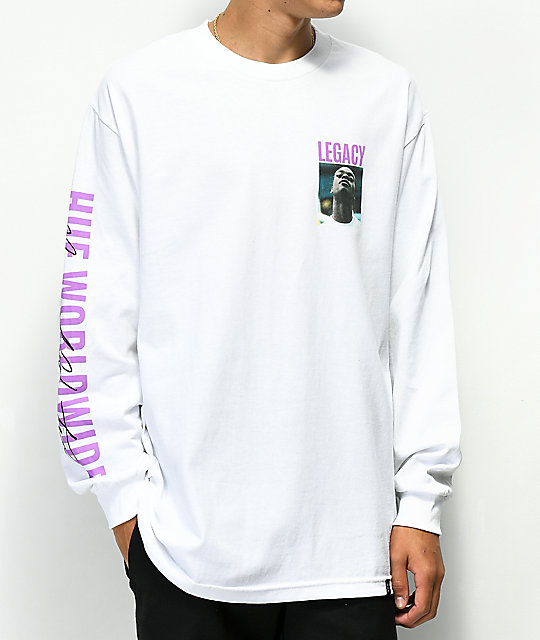 HUF x Harold Hunter Foundation Legacy White Long Sleeve T-Shirt