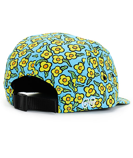 be2bc985afda5 ... HUF x Krooked Flowers Peacock 5 Panel Hat