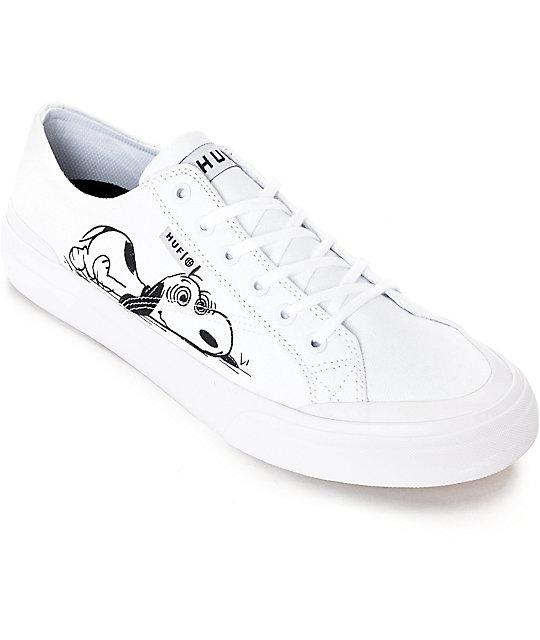 2805848833 HUF x Peanuts Classic Lo White   Black Skate Shoes