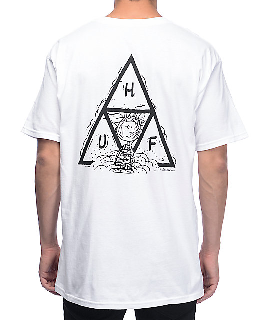 8eae17322df HUF x Peanuts Pig-Pen Triangle White T-Shirt