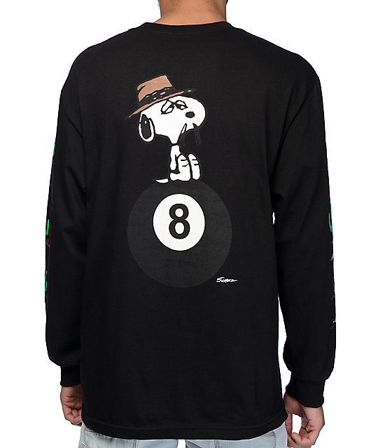 19799b5d0a HUF x Peanuts Spike Black Long Sleeve T-Shirt