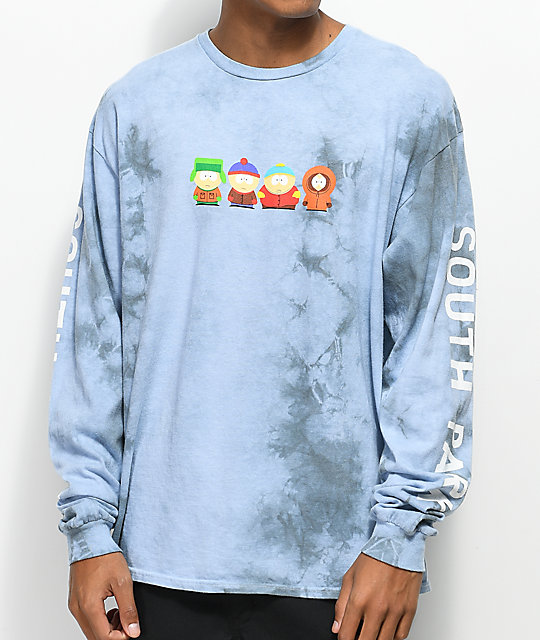 4bdbec7cb69 HUF x South Park Cast Crystal Wash Long Sleeve T-Shirt