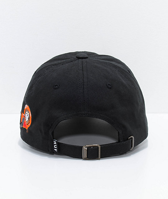 ... HUF x South Park Dead Kenny Black Strapback Hat 83e3fded733