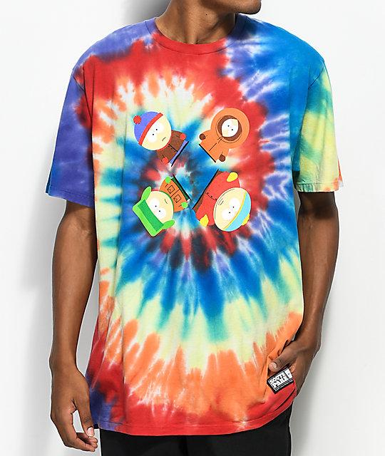 Huf X South Park Trippy Tie Dye T Shirt Zumiez