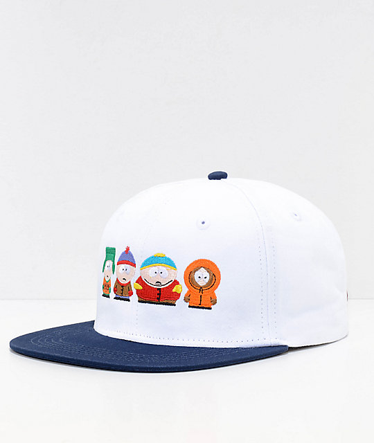 HUF x South Park White Strapback Hat