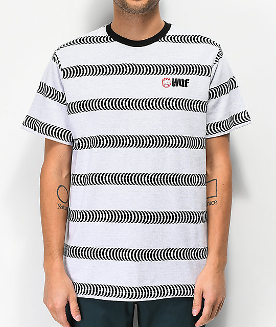 HUF x Spitfire Striped White Knit T-Shirt