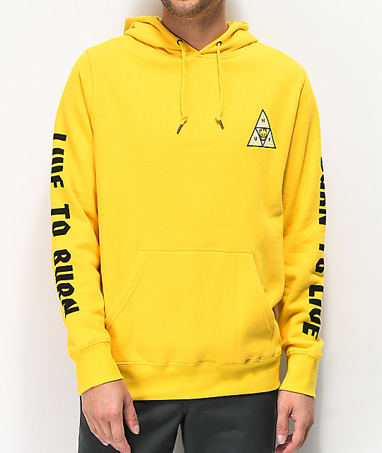 HUF x Spitfire Triangle Yellow Hoodie