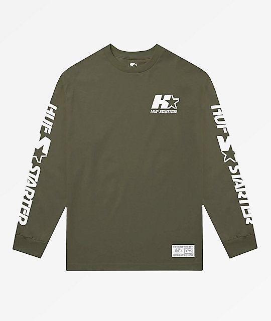 HUF x Starter Olive Long Sleeve T-Shirt