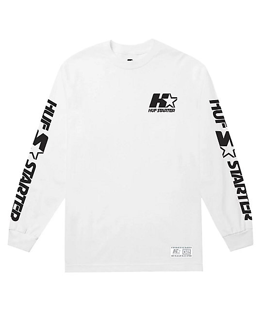 56da3fb5 HUF x Starter White Long Sleeve T-Shirt | Zumiez.ca
