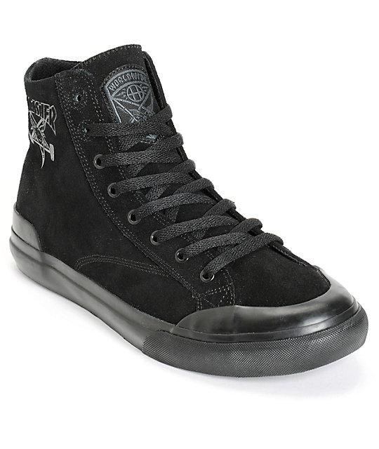 HUF x Thrasher Classic Hi Skate Shoes ...