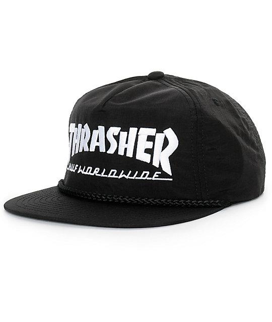 cae77993c11 HUF x Thrasher Logo Snapback Hat
