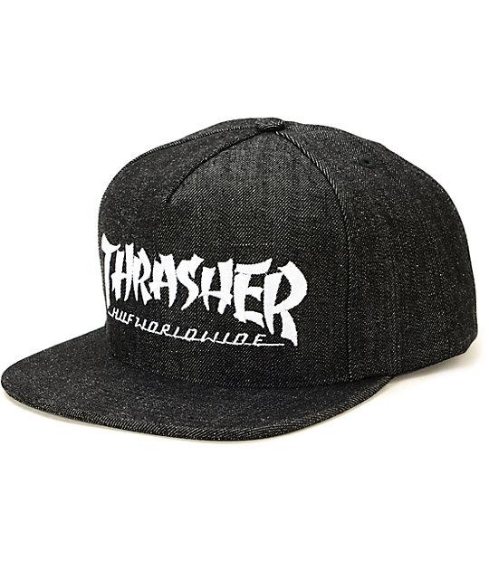 b5848d93790 HUF x Thrasher Stoops Asia Tour Denim Snapback Hat