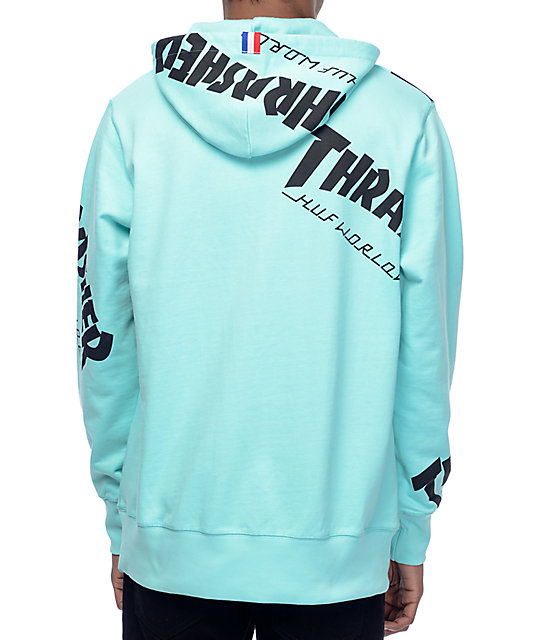 f9a46d630270 ... HUF x Thrasher TDS Allover Mint Hoodie ...