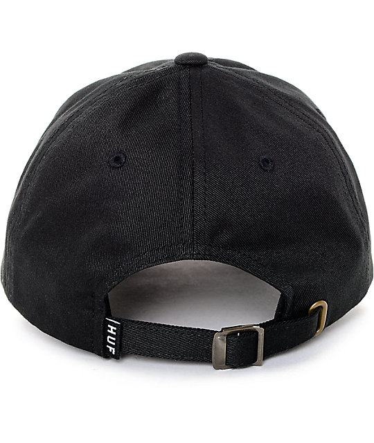 87b49b77082 ... HUF x Thrasher TDS Black 6 Panel Hat