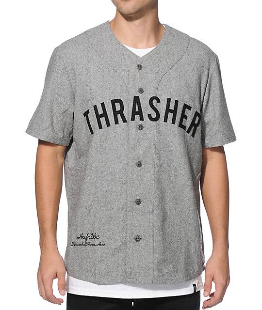 5735582adc3 HUF x Thrasher Vintage Baseball Jersey | Zumiez