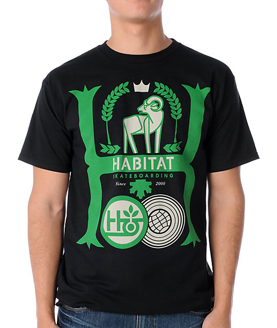 Habitat Aristocrat Black T-Shirt