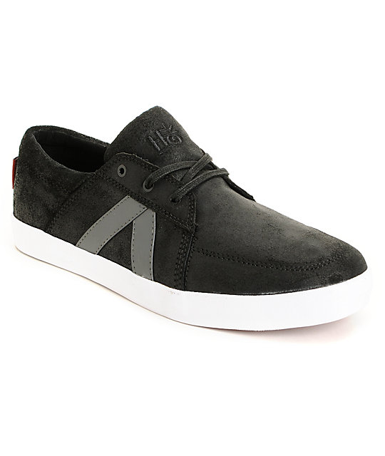 Habitat Austyn Black Waxed Skate Shoes